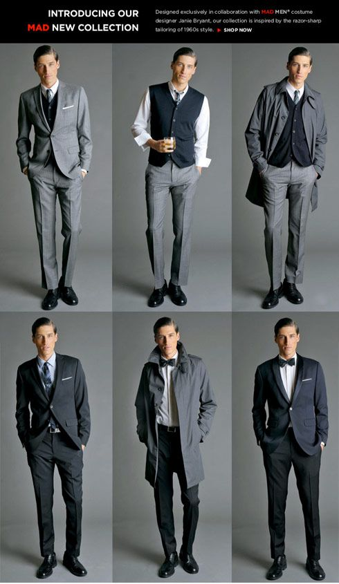 1960's Style Banana Republic Mad Men Collection Suits