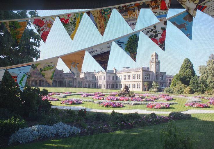 The Mansion and its grounds make the perfect backdrop to our bunting.