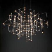 Quasar - Spectre - Hanglamp 5395,- Design: Jan Pauwels De Spectre hanglamp is een ontwerp van Jan Pauwels voor Quasar. Kleur: nikkel Afmeting: ø 100 cm, hoogte vekrijgbaar tot 200 cm Lichtbron: 130 x ...