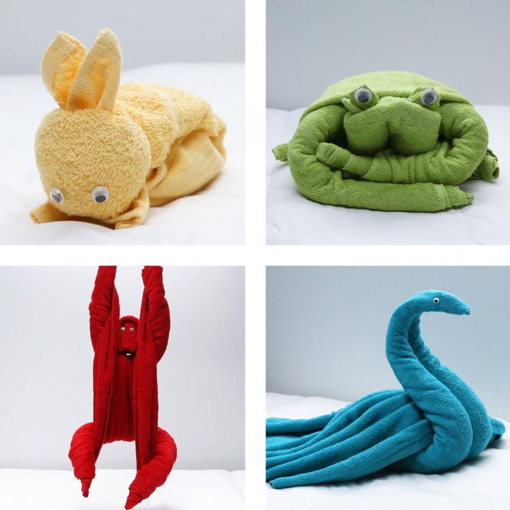 Having Overnight Guests? Leave Them A Cute Surprise With These 4 Cuddly Towel Animals : Having Overnight Guests? Leave Them A Cute Surprise With These 4 Cuddly Towel Animals Fun Crafts, Diy And Crafts, Crafts For Kids, Towel Origami, Cute Surprises, Towel Animals, How To Fold Towels, Towel Crafts, Washing Clothes