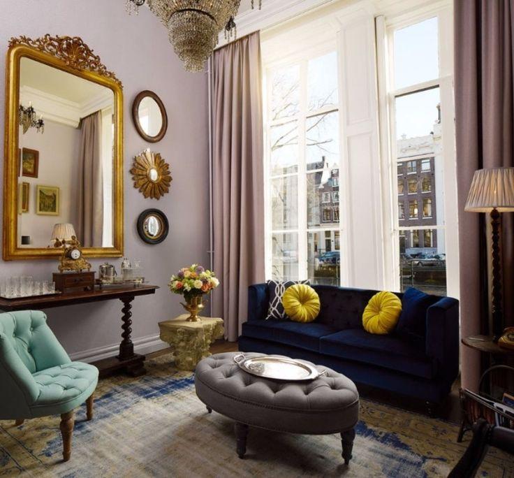 10 Remarkable Modern Sofas In Hotel Interior Design Projects | Blue Sofa. Living Room Set. Grey Sofa #modernsofas #velvetsofas #livingroomdesign Read more: http://modernsofas.eu/2017/02/21/remarkable-modern-sofas-hotel-interior-design-projects/