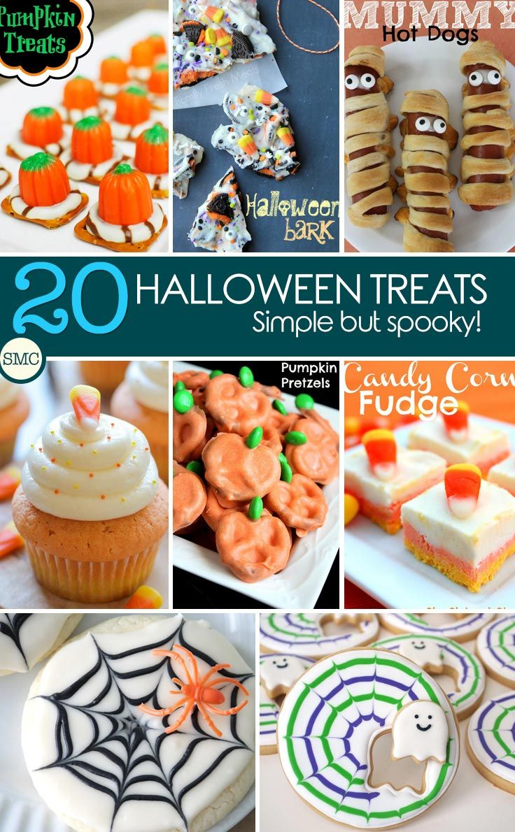These Halloween treats are super cute - but spooky enough for the kids! Click on the image to see the recipes