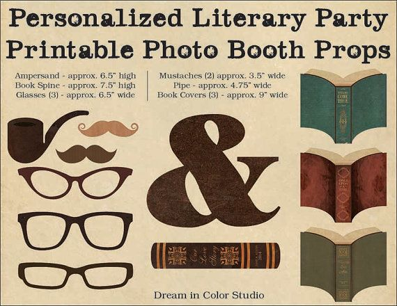 Book Cover Photography Prop ~ Personalized photo booth props for literary wedding or