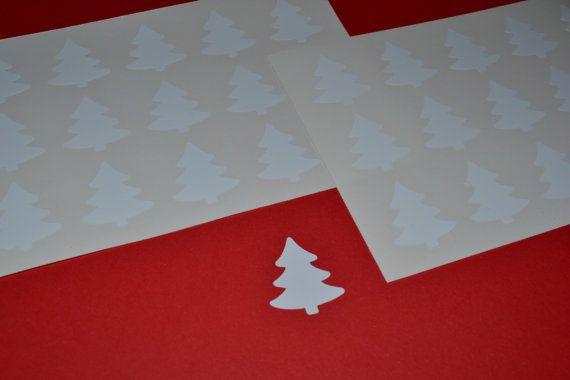 30 adesivi Stickers Albero di Natale bianco vinile di Verifly