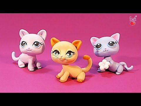 (7) LPS shorthair cat KOTEK - tutorial polymer clay - z modeliny - YouTube