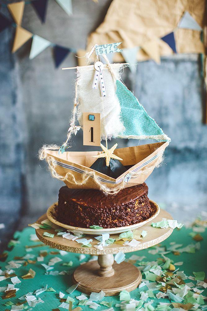 first birthday boy sea party decor cake  decor by Julia Shteyzel декоратор Юлия Штейзель