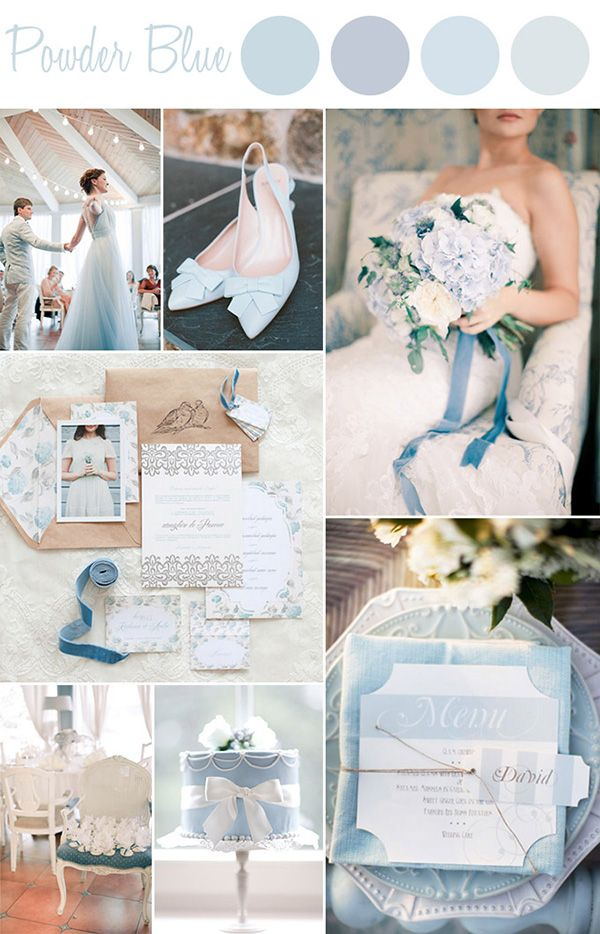 Powder blues trending for 2015 wedding themes - Wedding trends 2015 #wedding #weddingcolours #colours