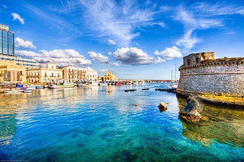 The port of Gallipoli at Puglia.