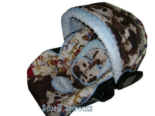 items similar to britax chaperone cowboy blueslight blue minky dot infant car seat cover ready to ship on etsy