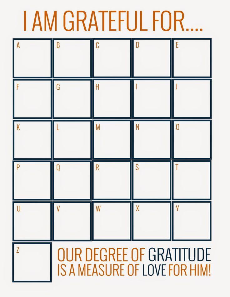 A Bushel and a Peck of FUN: Gratitude - November Activity Days