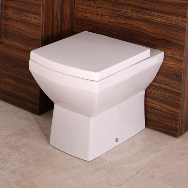 Tabor Back To Wall Toilet, priced at £79.95. The Tabor back to wall toilet is a brand new modern square design, featuring a soft close seat. The toilet is a perfect match to any square wc unit or combination unit. Order now at - http://www.betterbathrooms.com/toilets/tabor-back-to-wall-toilet/