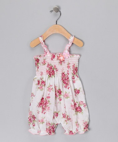 Oh dear- I could spend a zillion dollars at zulilySmocking Voile, Pink Spring, Bouquets Smocking, Spring Bouquets, Voile Rompers, Baby Style, Baby Girls, Baby Clothing, Zulily Today