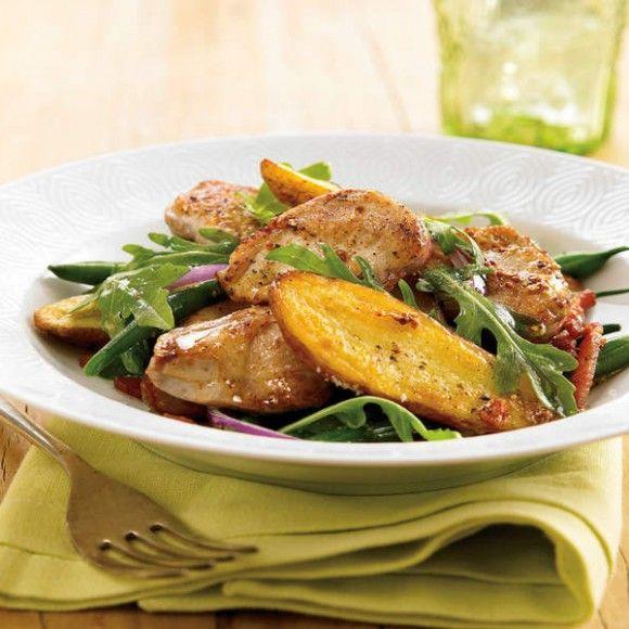 Warm Salad of Quail and Roasted Rosemary Potatoes