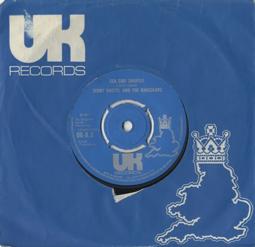 Terry Dactyl And The Dinosaurs, on Jonathan King's UK Records.