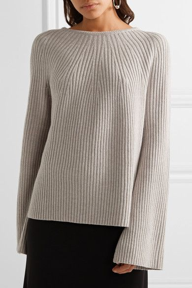 Stone wool and cashmere-blend Slips on 70% wool, 30% cashmere Dry clean Designer color: Lunar
