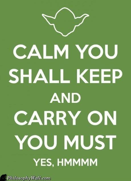 Well said, Yoda.