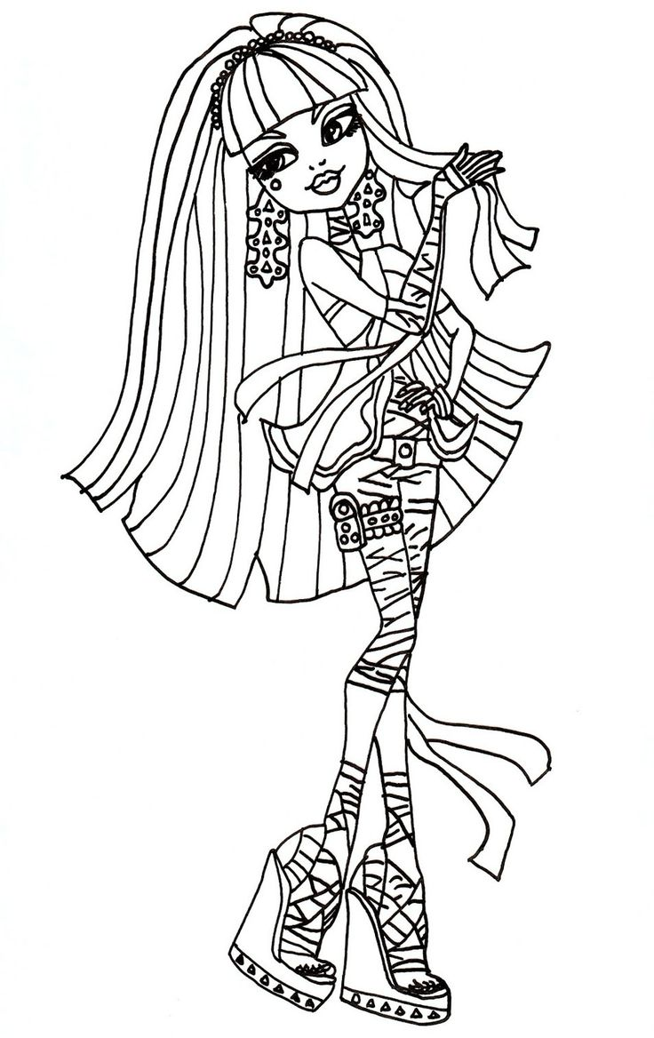 Free Printable Monster High Coloring Pages Cleo De Nile Sheet