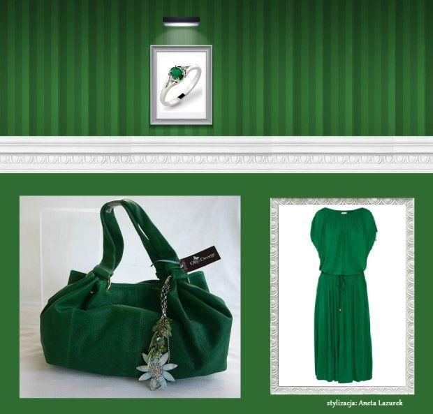 Wasze zielone stylizacje - Lazurenka!  :).  Do #konkursu na #najlepsza #stylizacja zaprasza www.big-active! pierścionek: DE ART, sukienka: Michael Kors, torebka: Only George