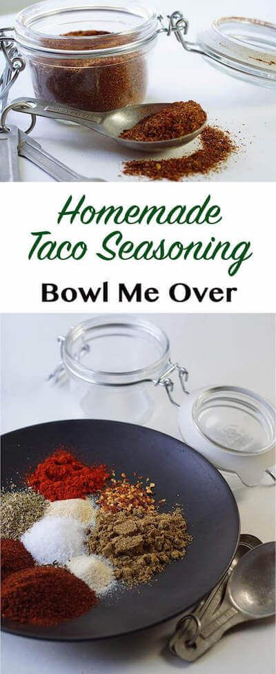Taco Seasoning is super easy to make, tastes better than the packet. Customize to your taste - spicy or mild - so why not make it yourself?