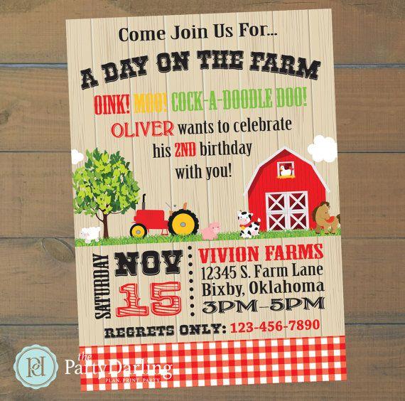 Best 25 Farm party invitations ideas – Pinterest Party Invitations
