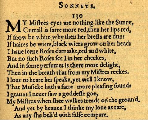 shakespeares my mistress eyes are nothing like William shakespeare (1564-1616) william shakespeare  my mistress' eyes are nothing like the sun my mistress' eyes are nothing like the sun.