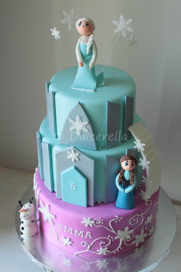 Disney Frozen Cake - princesses and castle | Flickr - Photo Sharing!