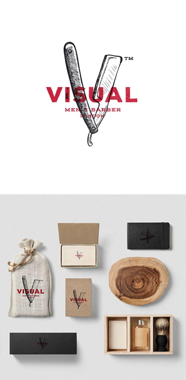 Branding, brand design for a men's barber based in London.