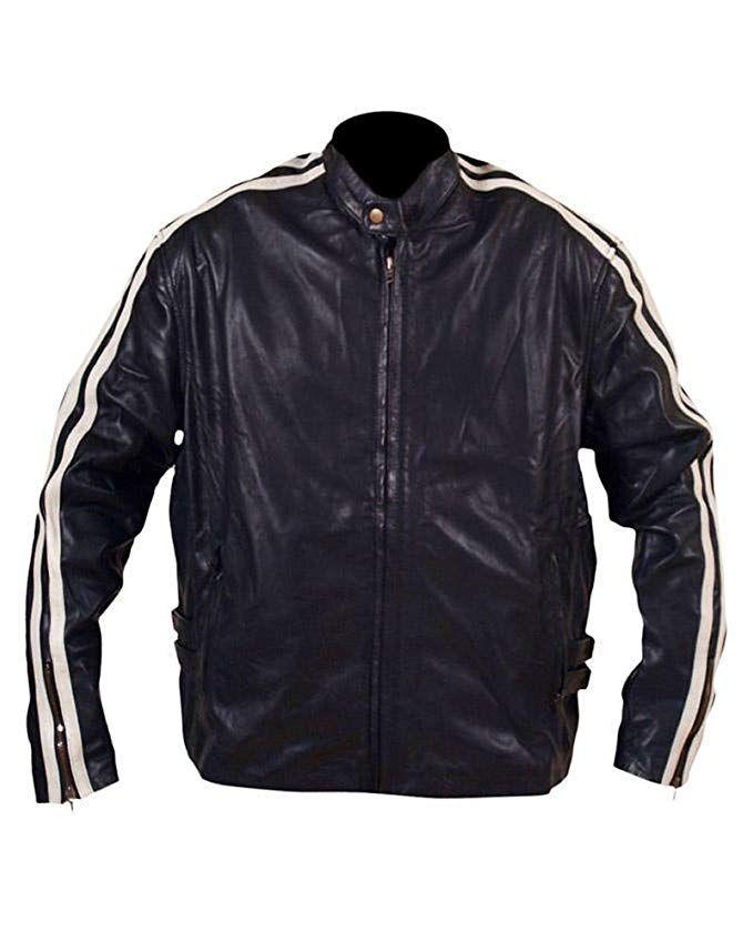 SleekHides Mens Fashion Bomber Real Leather Vintage Jacket