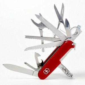 YIJIA 17 En 1 Ouverts Couteau en Acier Inoxydable Multifonctionnel Armée Suisse Couteau