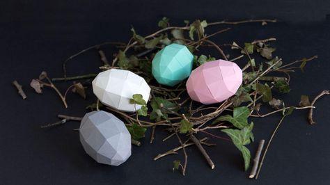 (Quelle: Anastasia Baron) 3D Eggs made of paper