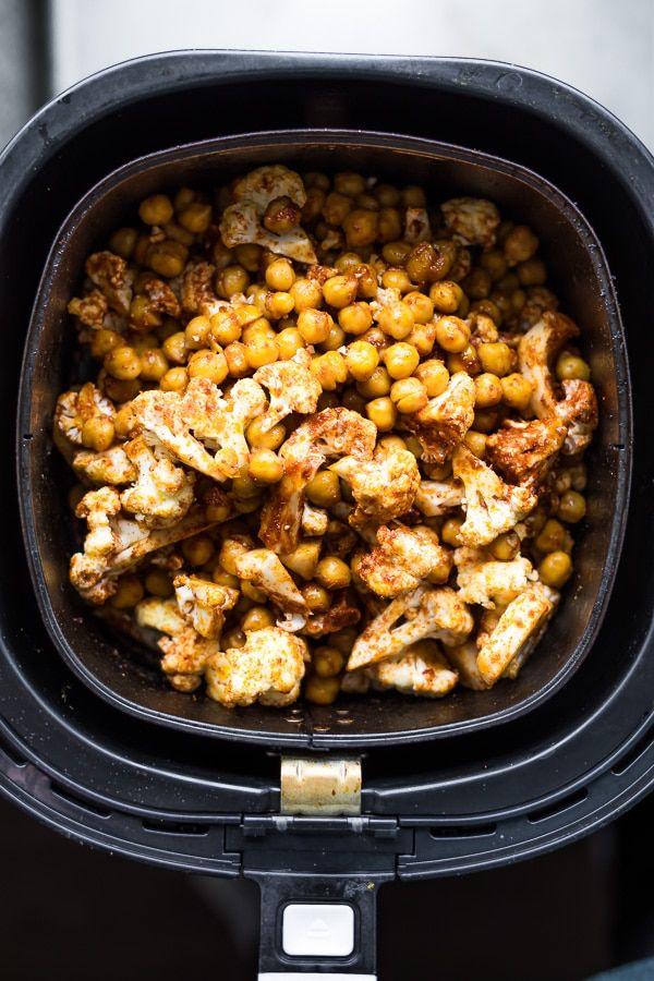 Air Fryer Cauliflower Chickpea Tacos Recipe in 2020