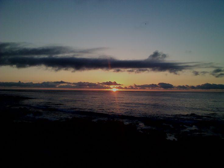 puesta de sol en el pacifico