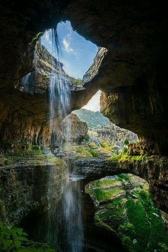 La Cascata della grotta di Baatara - Libano