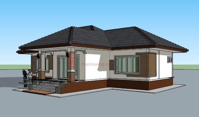 Perfect For Those On A Budget 3 Bedroom Single Storey House Plan Ulric Home Single Storey House Plans Two Story House Design Modern Style House Plans
