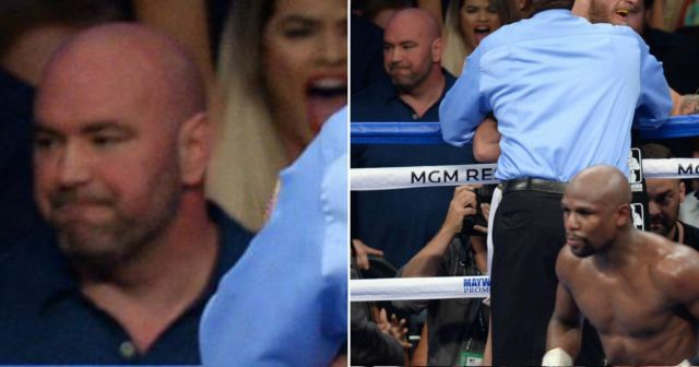 Dana White's sad reaction to Conor McGregor's loss goes viral