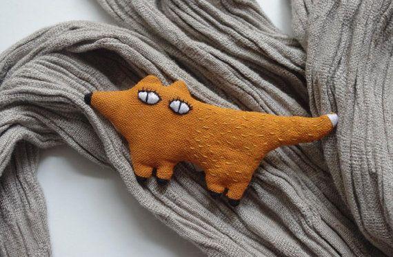 Foxy fox  brooch by adatine on Etsy, how cute! :)