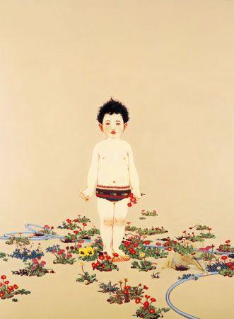 安藤正子「おへその庭」、夜の原美術館。 - フェロモン部