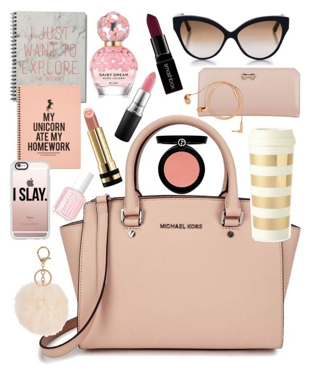 """""""What's in my purse"""" by zahna on Polyvore featuring mode, Michael Kors, Smashbox, Gucci, MAC Cosmetics, Zodaca, Marc Jacobs, Armani Beauty, Casetify en Cutler and Gross"""