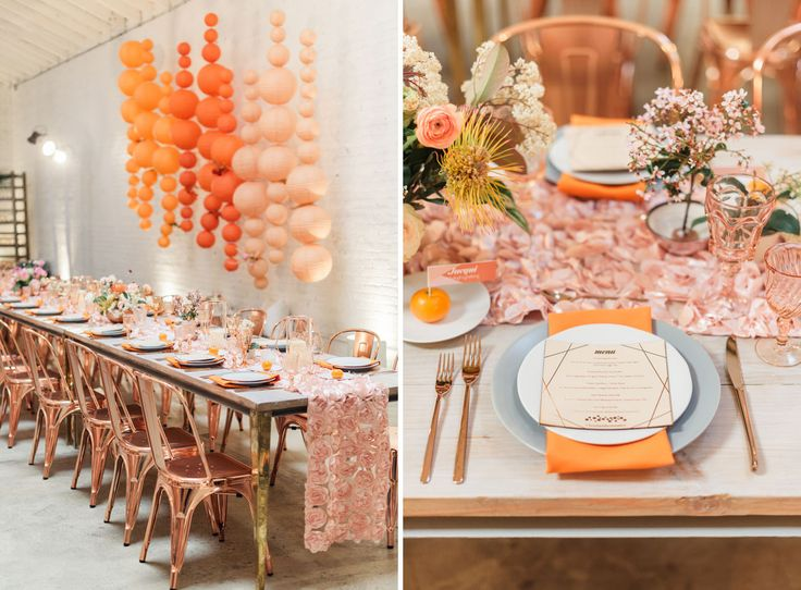 70s Dinner Party Ideas Part - 21: A Rose Gold Glam Dinner Party