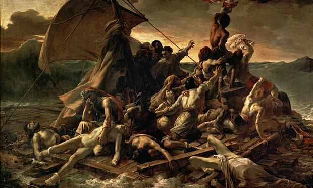 The Raft of the Medusa (Le Radeau de la M  duse), 1818-1819, by Théodore Géricault
