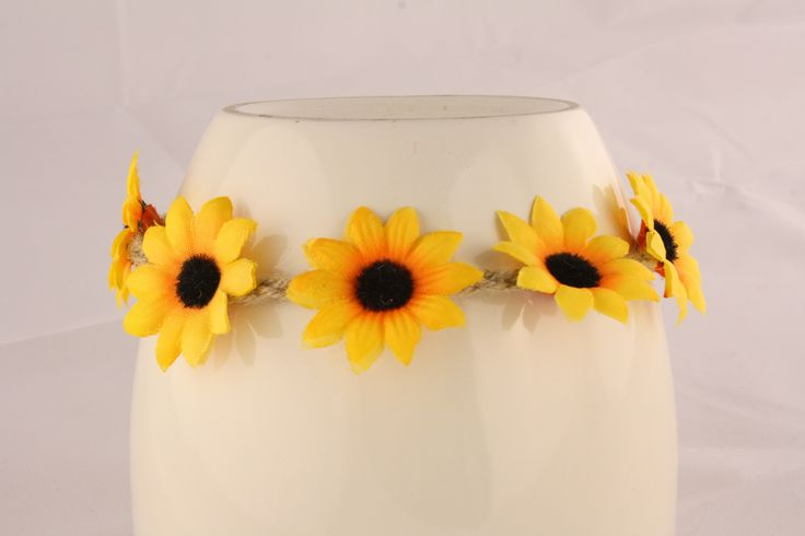 Yellow & Brown Floral Head Piece