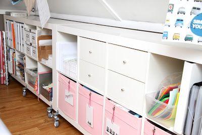 Expedit IKEA kast op wieltjes. Simpele oplossing voor bergruimte op zolder