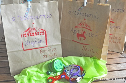 Personalized gift bags for girls! #bonbonstudio