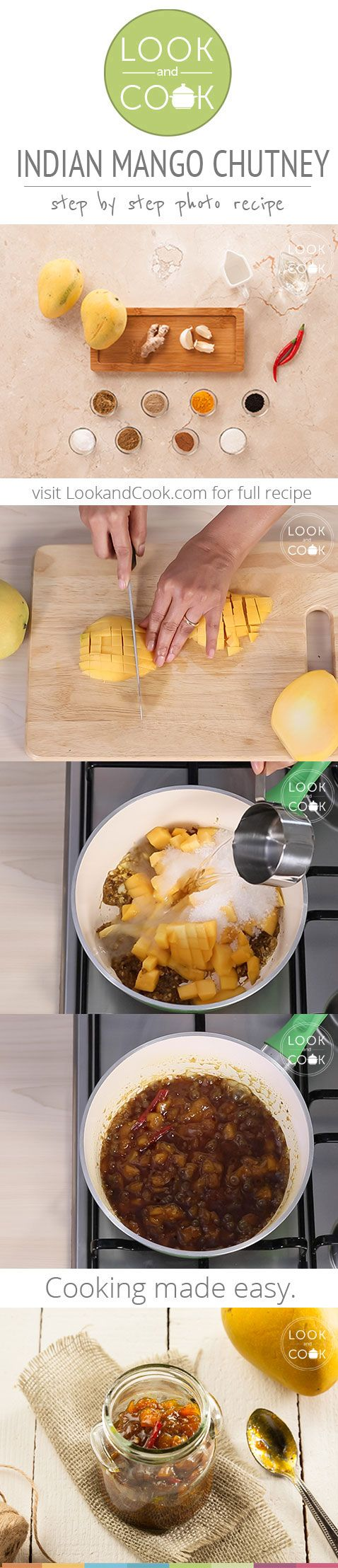INDIAN MANGO CHUTNEY RECIPE (LC14297): Step by step guide to make this condiment with mango base & spices for the mango season.
