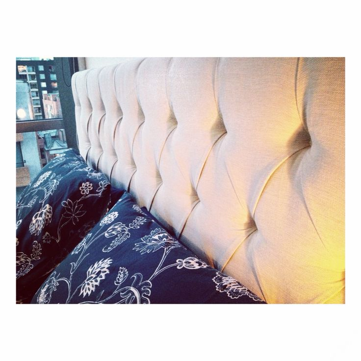 Upholstered Headboard made by Denken for one of our favorite couples!