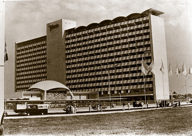 Hotel Indonesia - Jakarta, 1962. This old historical hotel is still here, being renovated and now standing side by side with a high rise prestigious building a complete complex of offices and mall called Grand Indonesia. Our late President Soekarno built this hotel to accomodate the Asian Games athletes held in 1962