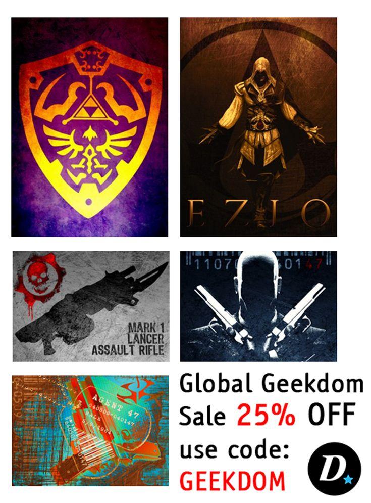 Global Geekdom Sale 25% OFF - use code: GEEKDOM. #gaming #posters #gamingposter #gamer #gamersgifts  #gamerhome #homedecor #homegifts #gamers #zeldaposter #hitmanposter #legendofzeldaposter #displate #metalprint #mancave #giftsforhim #giftsforher #kidsgifts