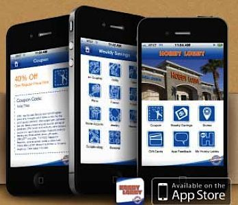 FREE Hobby Lobby iPhone App  to get the latest coupon and see weekly savings