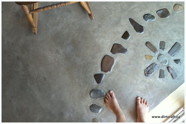 earthen floor with natural stones (Dirt Craft Natural Building)