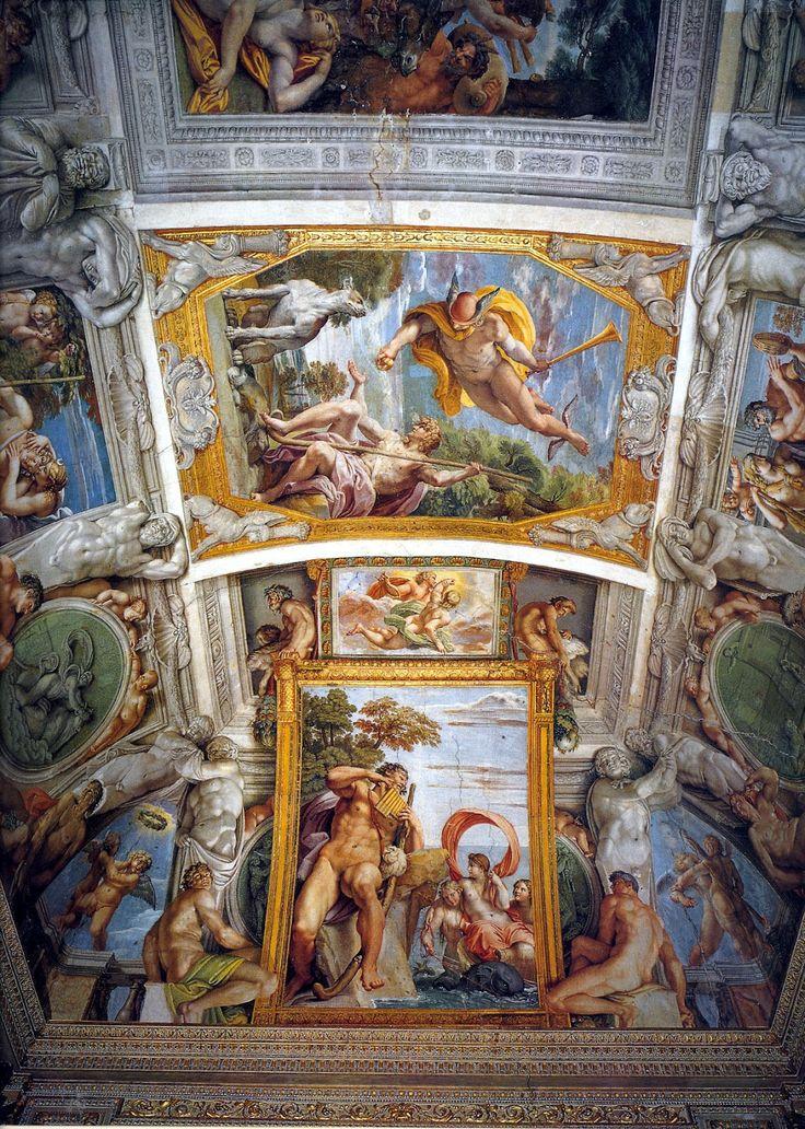 Annibal Carrache, fresques de la voûte de la galerie Farnèse : Mercure et Pâris ; Polyphème et Galatée.